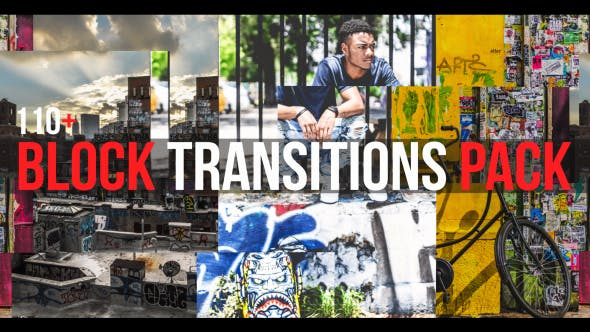 Thumbnail for Block Transitions Pack | 110 +