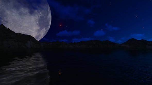 Cover Image for Big Moon Over Night Lake