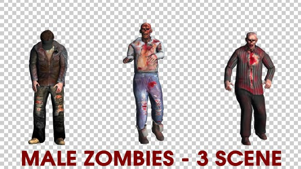 Cover Image for Male Zombies Pack