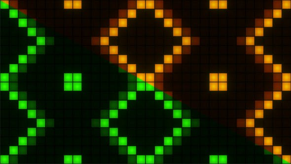 Cover Image for Wall Of Square Lights Flashing
