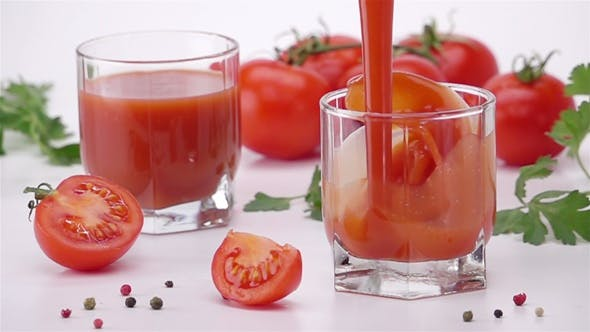 Thumbnail for Pouring Tomato Juice Into Glass.
