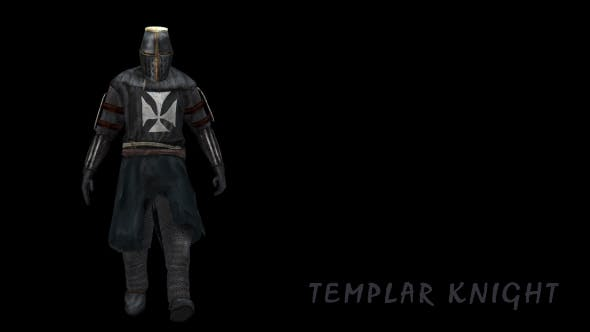 Templar Knight Walking