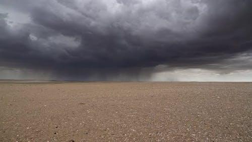 Curtain of Rain in Arid Desert