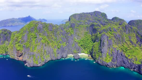 Thumbnail for Rocky Island and Secret Beach Lagoon on Miniloc in the El Nido Archipelago, Palawan, Philippines