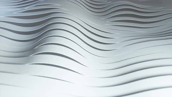 Background of Rows of Multicolored Popup White Stripes