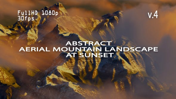 Thumbnail for Abstract Aerial Mountain Landscape at Sunset 4