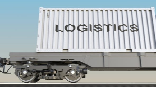 Thumbnail for Moving Cargo Train and Containers with LOGISTICS Caption