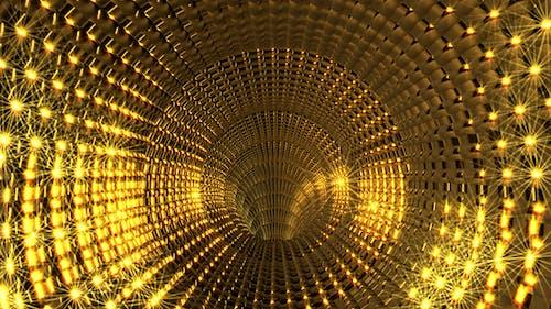 Goldener Glare Tunnel