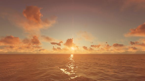 Thumbnail for Beautiful Ocean Sunset Background