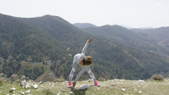 Thumbnail for Sportive Woman Stretching on Nature