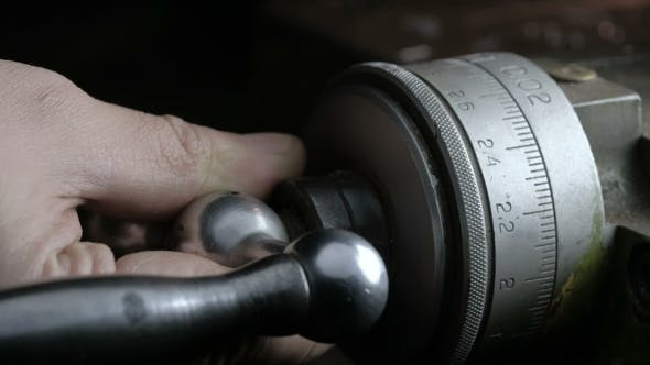 Thumbnail for Old Lathe Machine in Workshop