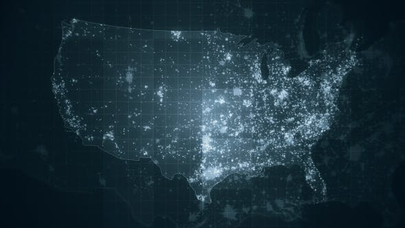 Thumbnail for Pack of USA Global Maps Loop HD