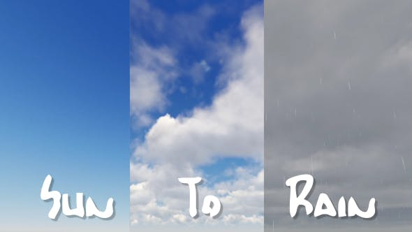 Thumbnail for Sun To Rain -  Weather Background Timelapse