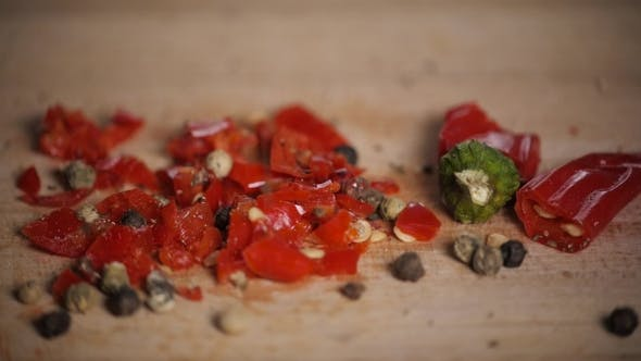 Thumbnail for Different Red Hot Pepper Spices Freshly Ground on Wooden Background