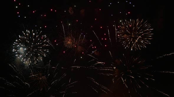 Thumbnail for Colorful Fireworks in the City