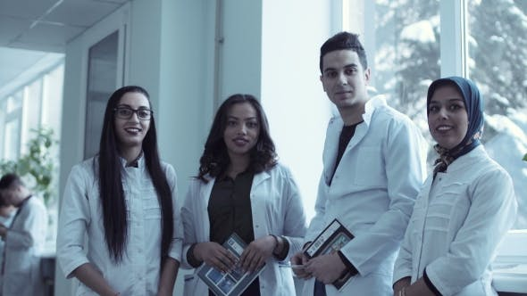 Thumbnail for Video Clip of Four Young Medical Students