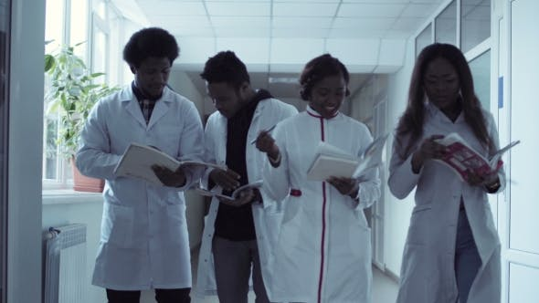 Thumbnail for Medical Students in Corridor