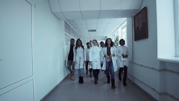 Thumbnail for Medical Students in the Hall