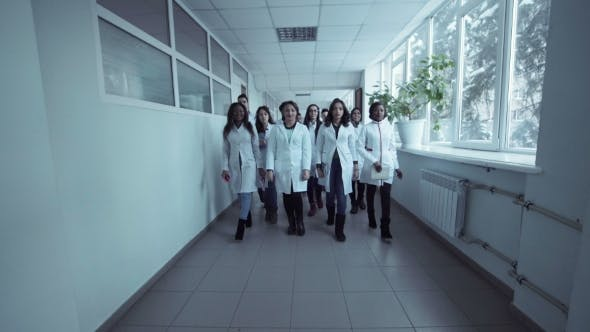Medical Students in the Hall