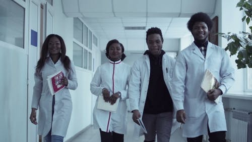 Video Clip of Medical Students in Corridor