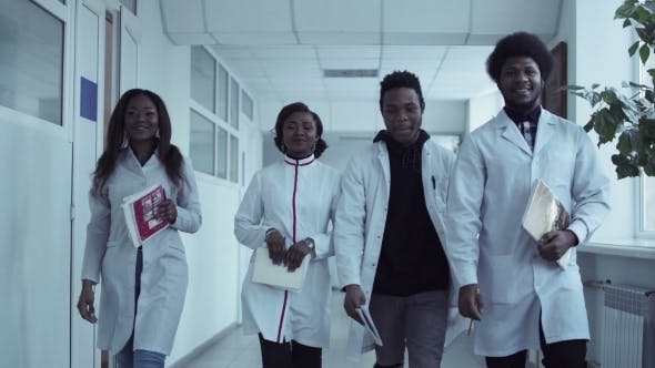 Thumbnail for Video Clip of Medical Students in Corridor
