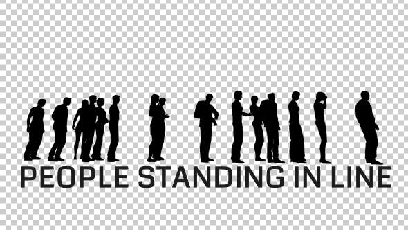 Thumbnail for People Silhouettes Standing in Line