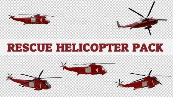 Thumbnail for Rescue Helicopter Pack - 5 Scene