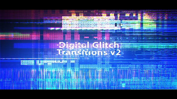 Cover Image for Digital Glitch Transitions v2
