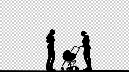 Womens and Baby Silhouette