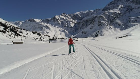 Thumbnail for Skate Skiing on Groomed Trail