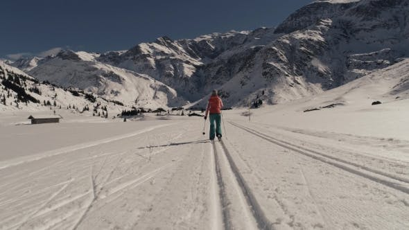Thumbnail for Cross-country Skiing in Mountain Valley