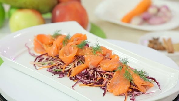 Thumbnail for Red Cabbage Salad with Smoked Salmon