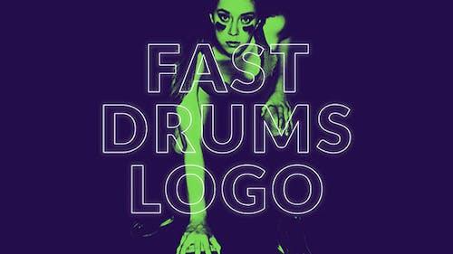 Fast Drums Logo Opener