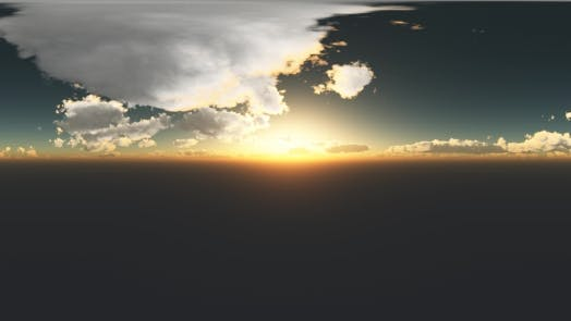 Thumbnail for Clouds  at Sunset in Virtual Reality