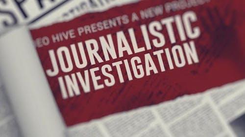Journalistic Investigation Opener