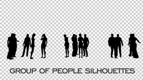 Personengruppe Silhouetten