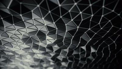 Futuristic Triangular Black Plates