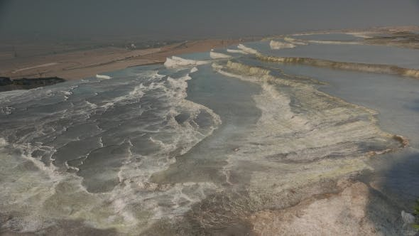 Cover Image for Cottony White Pools at Hierapolis Hot Springs, Pamukkale, Turkey
