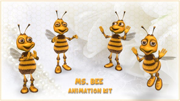 Ms. Bee Character - Animation Kit