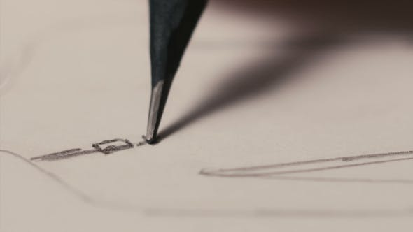 Thumbnail for Jewelry Designer Draws Sketches with a Pencil