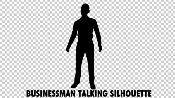 Thumbnail for Businessman Talking Silhouette