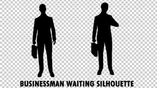 Businessman Waiting Silhouette