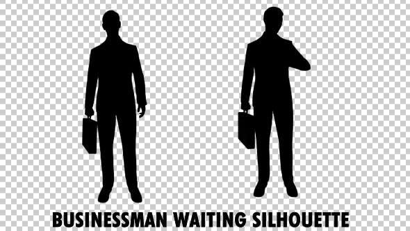 Thumbnail for Businessman Waiting Silhouette