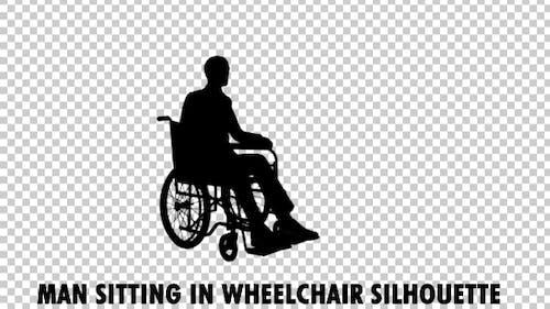 Man On Wheelchair Silhouette