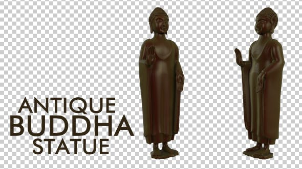 Buddha-Statue aus antikem Porzellan