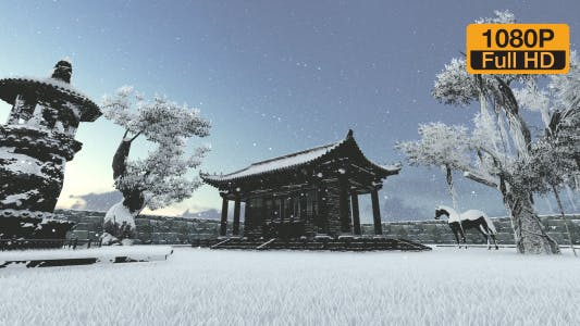 Thumbnail for Snowy Japanese house