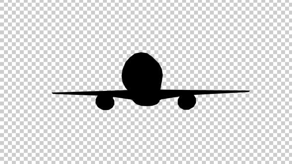 Thumbnail for Plane Takes Off Silhouette