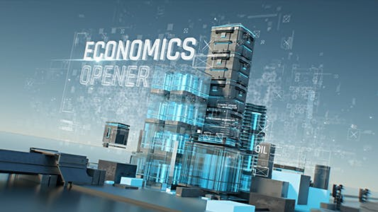 Economics Opener/ Business and Corporate Grow Intro/ HUD UI Breaking News/ Oil and Energy Ident