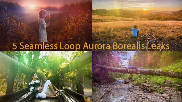 Thumbnail for Seamless Loop Aurora Borealis Lights Leaks