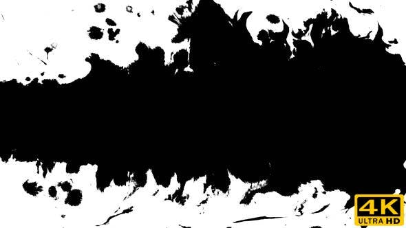 Thumbnail for Several Ink Drops From Right To Left on Wet Paper 01